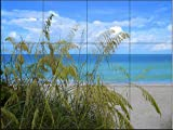 Ceramic Tile Mural - Sea Grass in the Breeze- by Sean Allen - Kitchen backsplash / Bathroom shower