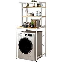 3-Tier Washing Machine Shower Storage Rack Space-Saving Bathroom Storage Rack Above The Toilet Multi-Functional Caddy…