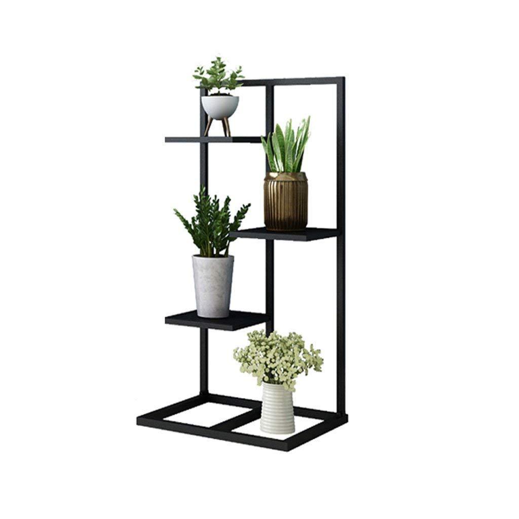 4レイヤーディスプレイスタンド&フラワーポットセラミックストレージラック、庭テラスのための黒鍛鉄メタル立っている植物のポットディスプレイスタンドは、4 * 5 * 6の花鍋を収容することができます (サイズ さいず : 34 * 40 * 80cm) B07JX9HX4T   34*40*80cm