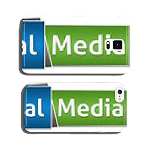 Social Media Green Blue Button Style cell phone cover case iPhone5
