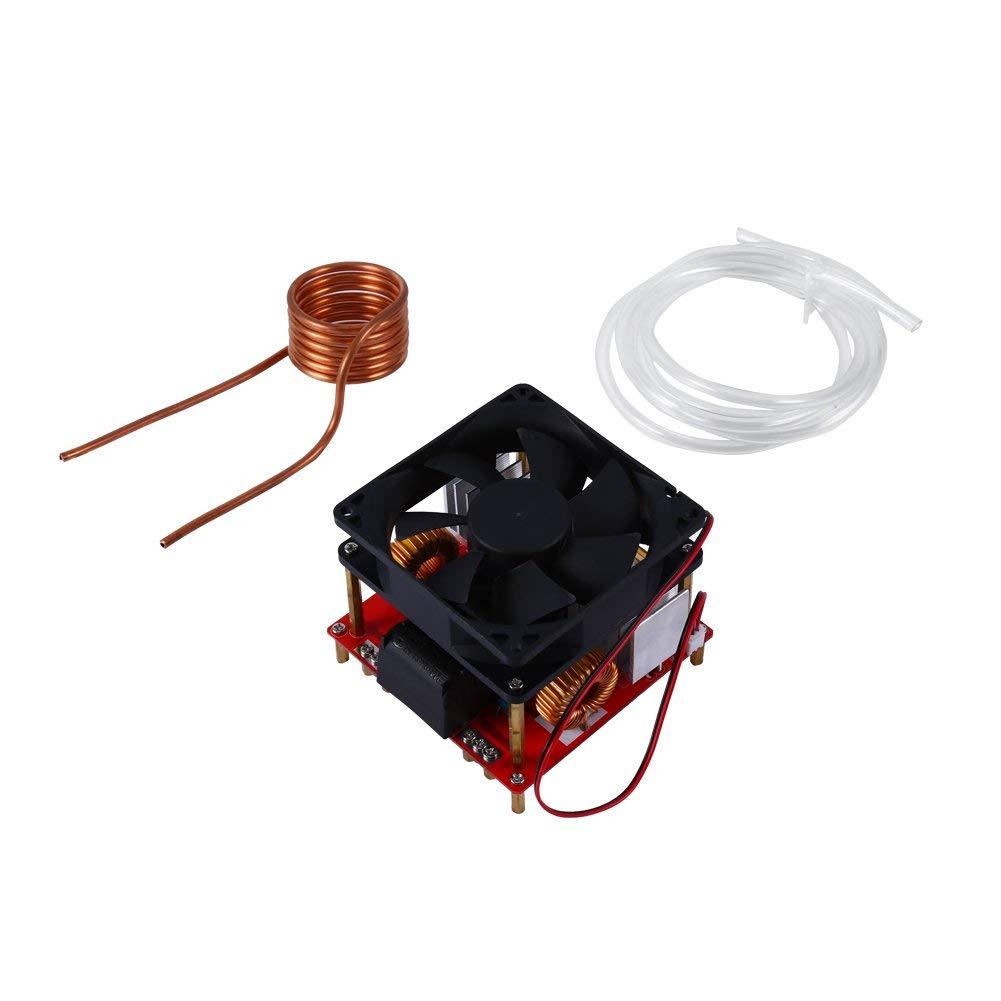 DC24V-36V 500W ZVS M/ódulo de placa de calentamiento por inducci/ón de baja tensi/ón con ventilador y bobina de calefacci/ón