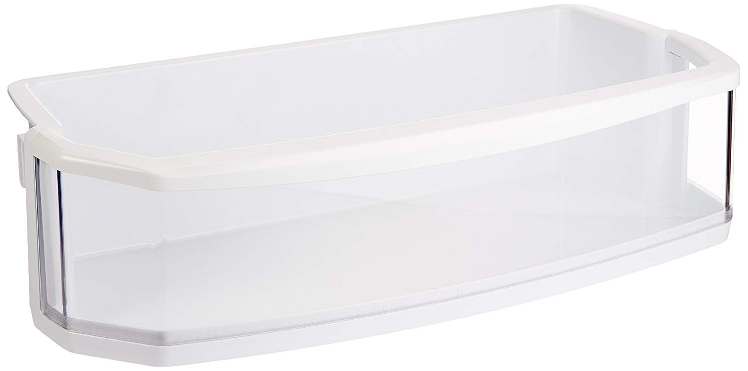 LG Electronics AAP72909211 Refrigerator Door Shelf/Bin, White with Clear Trim