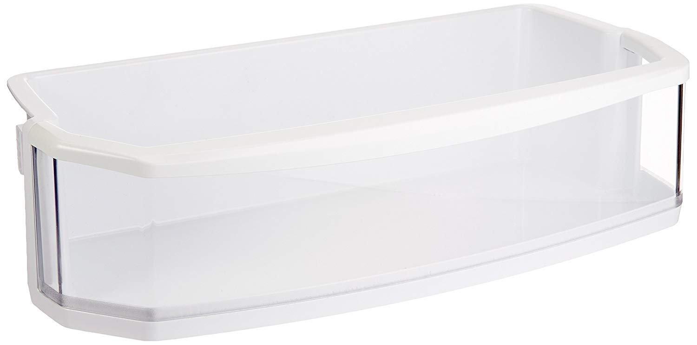 LG Electronics AAP72909211 Refrigerator Door Shelf/Bin, White with Clear Trim