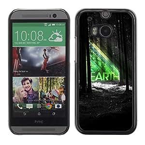A-type Arte & diseño plástico duro Fundas Cover Cubre Hard Case Cover para All New HTC One (M8) ( Hermosa TIERRA Forrest Ilustración )