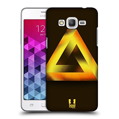 Head Case Designs Gold Penrose Triangle Hard Back Case Cover for Samsung Galaxy Grand Prime