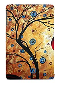 Exultantor Durable Defender Case For Ipad Mini/mini 2 Tpu Cover(abstract Art Landscape Tree Metallic Gold Texture Painting Free As The Wind By Madart) Best Gift Choice