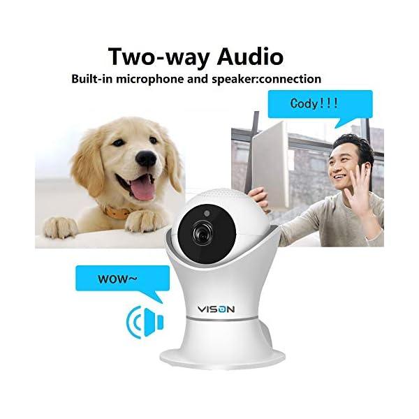 VINSION HD 1080p Pet Camera,Dog Camera 360° Pet Monitor Indoor Cat Camera with Night Vision and Two Way Audio 2