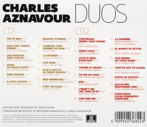 Charles Aznavour // Duos / 2Cd by Emi France