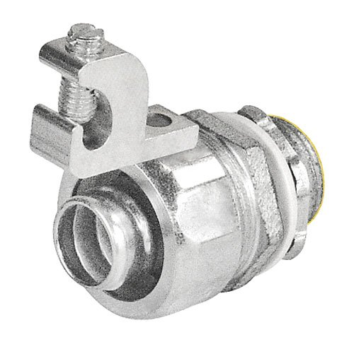 - 3/4 Inch Steel Liquid Tight Straight Connector With Aluminum Grounding Lug-2 per case