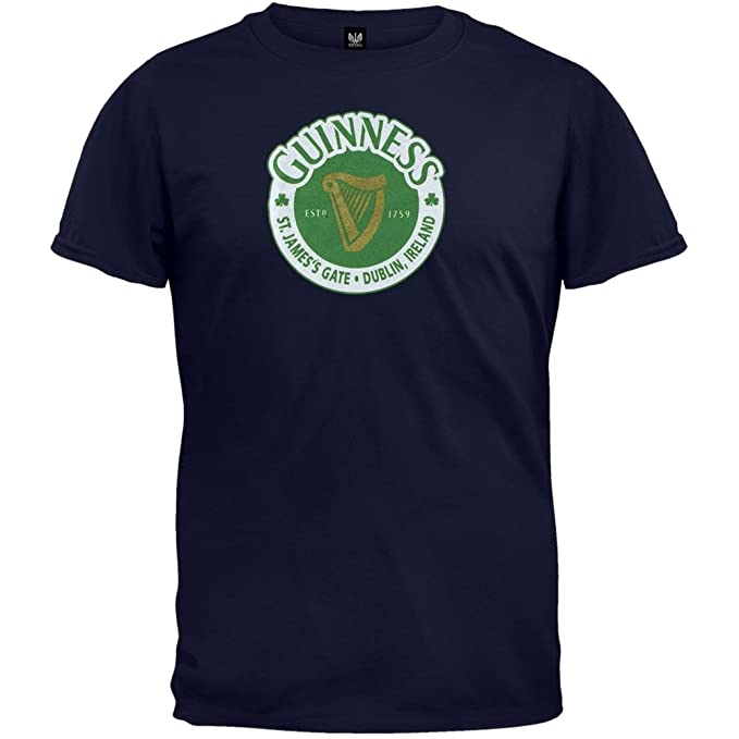 38a22cb3e St. Patrick's Day - Guinness - St James Gate T-Shirt Dark Blue Small