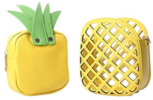 U-WARDROBE Womens Shoulder Bags, Fashion Pineapple Shape Clutch Purse Cross Body Bag Handbags For Girls Women Yellow