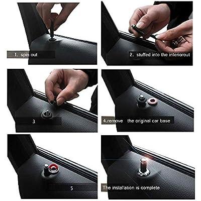 PATWAY 4 Pcs Metal Car Wheel Tire Valve Stem Caps and 4 Pcs Door Lock Knob for Civic Accord CRV Pilot HR-V Logo Styling Decoration Accessories.: Automotive