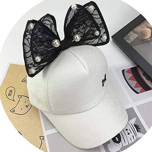 子供 メッシュキャップ 春夏 野球帽子 ヒップホップ キャップウサギ耳珠ビッグボウキッズサンハット,チャイルドコットン,48-54cm