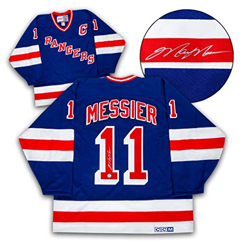 02a9e5e5a Mark Messier New York Rangers Autographed CCM Vintage Hockey Jersey