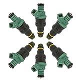 Fuel Injectors for BMW 325i 325is 525i M3 2.5L 3.0L 172cc 1991 1992 1993 1994 1995 1998 1999 Replaces 0280150415 13641730060 852-12119 DOICOO(6PCS)