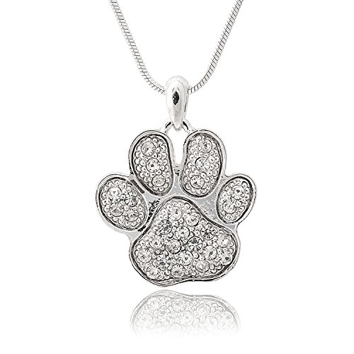 Spinningdaisy Silver Plated Crystal Necklace