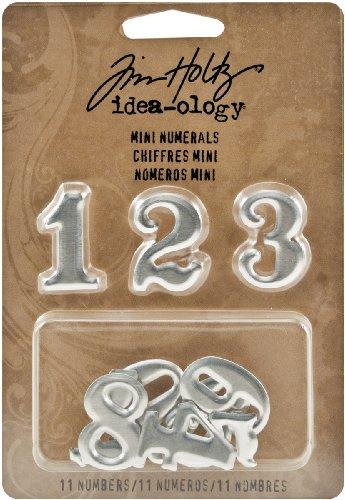 Metal Mini Numerals by Tim Holtz Idea-ology, 11 Numerals, 1