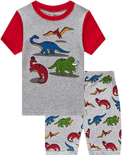 - Pajamas for Boys Kids Baby Summer Clothes Dinosaur Short Pj Set Children 2 Pieces Sleerwear 8t