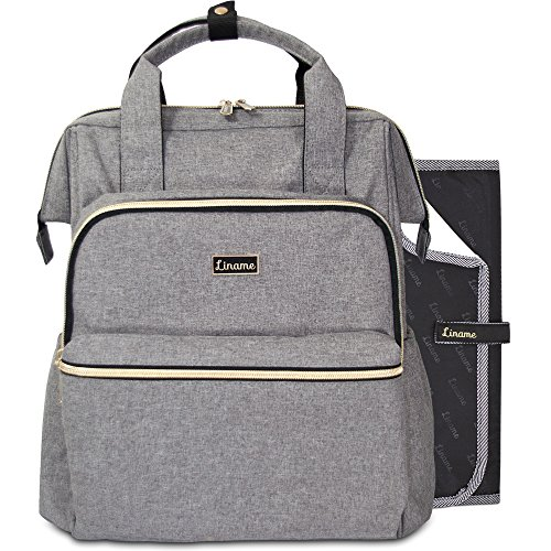 Premium Diaper Bag Backpack by Liname - Extra-Wide Zip Openi