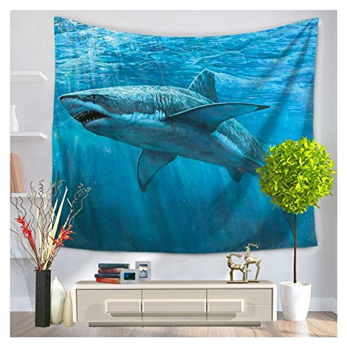 Tapestry Series Blanket (Betterwish New Wall Hanging Tapestries series of oceanic sharks hanging beach blanket (M: 150130 cm(59
