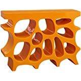 Modway Wander Small Stand In Orange - Modern Side Table For Entryway - Magazine Or Book Stand Display