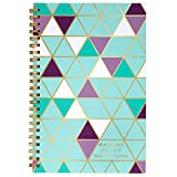 """AT-A-GLANCE Weekly/Monthly Teacher Planner, July 2018 - June 2019, 4-7/8"""" x 8"""", Purple/Teal Geo (TP200A35)"""