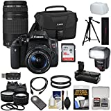 Canon EOS Rebel T6i Wi-Fi Digital SLR Camera & EF-S 18-55mm is STM & 75-300mm III Lens + Case & 16GB Card + Grip + Tripod + Flash + Tele/Wide Lens Kit