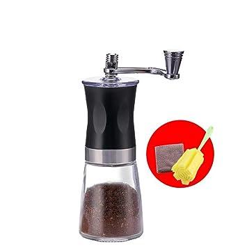 Máquina de café manual Amoladora de grano de café Mini amoladora de mano trituradora de hogar portátil, puede ser infinitamente molida, para oficina de ...