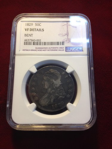 1829 Bust Half Dollar 50 CENTS VF DETAILS NGC