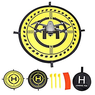 Fstop Labs 32 Inch Waterproof Collapsible Foldable Drone Landing Pad for DJI Tello Mavic 2 Zoom Mavic 2 Pro, Mavic Air Pro Platinum Phantom 3 4 Spark Accessories High Contrast