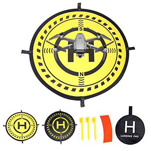32 Inch Waterproof Collapsible Foldable Drone Landing Pad for DJI Tello Mavic 2 Zoom Mavic 2 Pro, Mavic Air Pro Platinum Phantom 3 4 Spark Accessories High Contrast