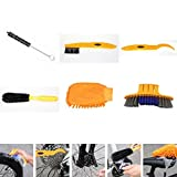 Fbest 6pcs/lot Bicycle Chain Cleaner Cycling Tire Brushes Portable MTB Road Bike Cleaning Tool Set Bicycle Cleaning Gloves Tyre Kits