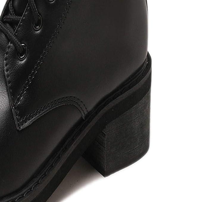 ❤ Botas Cortas para Mujer, Correa de Hebilla para Mujer Zapato Plano con Punta Redonda Antideslizante Tubo Corto Botas Knight Absolute: Amazon.es: Ropa y ...