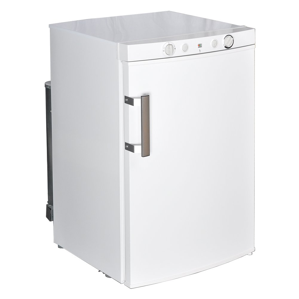 Smad Propane Refrigerator Off Grid Compact Refrigerator with Freezer, 3.5 Cu.Ft, White