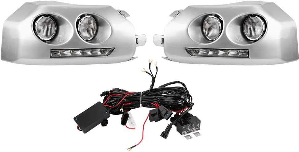 1Pair Daytime Running Light,Car Daytime Running Light DRL LED Daylight Fog Lamp for FJ Cruiser 09-13
