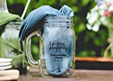 Love Laughter and Happily Ever After Pub Pint Glass, 16 Oz Custom Printed Beer Mugs Case of 48, Bridal Party Bar Wedding Reception Black