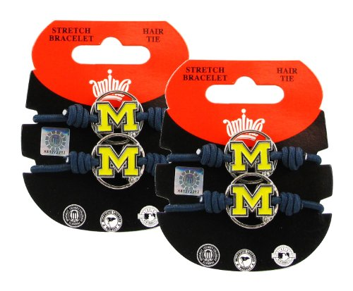 Michigan Wolverines - NCAA Stretch Bracelets / Hair Ties (2-Pack) by NCAA