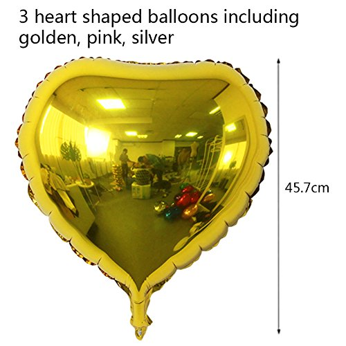 ... 4x12inch Confetti Balloons, 3x18inch heart balloons, 3x12inch shiny balloons, 1xmini Pump, Bunting Banner Garland for Mothers Day Party: Toys & Games