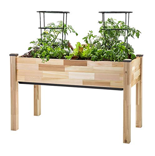 "CedarCraft Self-Watering Elevated Cedar Planter (22"" x 48"" x 30"""
