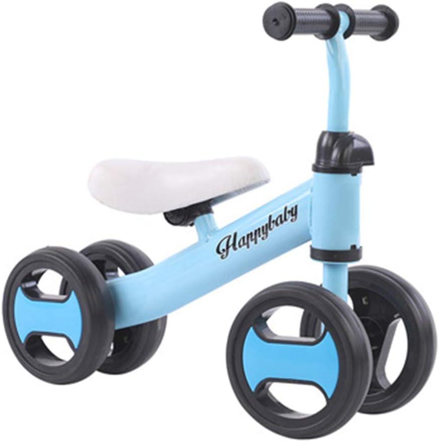 DFSSD Ride-On Baby Walker, Correr Infantil Formación de Bicicletas, n-Pedal, Triangular Estructura Estable, Primer Regalo de la Bici del bebé,Azul