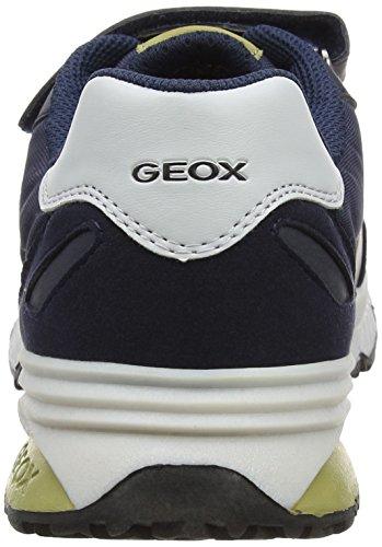 Geox J Bernie a, Zapatillas Unisex Adulto Azul (Navy/pistachio)