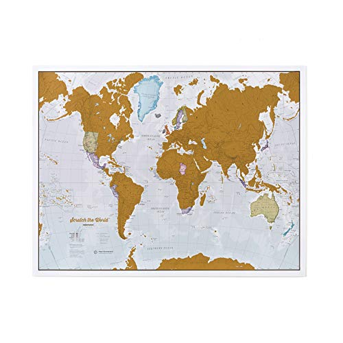 Maps International Scratch The World Travel Map - Scratch Off World Map Poster - Most Detailed Cartography - 22 x 17