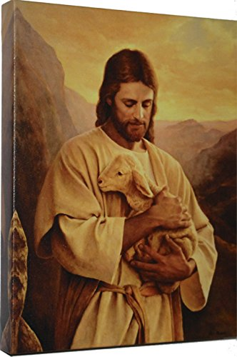 Lost Lamb by Del Parson Giclee Canvas Wrap Picture of Jesus holding Lost Lamb ()
