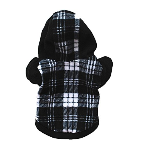 Dog Outfit, Puppy Pet Hoodie Sports Cool Warm Coat Jacket Grid Clothes Cool Doggie Apparel (Black, - Racing For Women Outfits