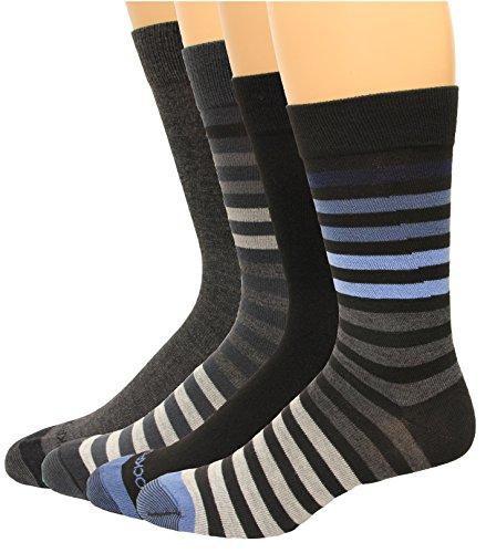 Rockport Men's Crew Socks 4 Pair, Dark Stripe Assort, Men's 8-12