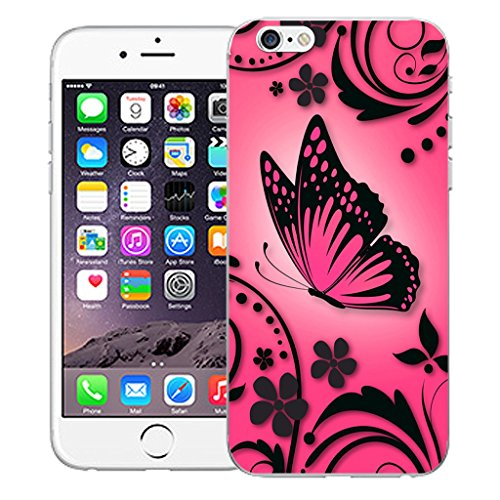 "Mobile Case Mate iPhone 6 4.7"" Silicone Coque couverture case cover Pare-chocs + STYLET - Pink Caress pattern (SILICON)"