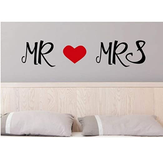Mr And Mrs Love Sweet Quotes Wallpaper Home Livingroom Arte