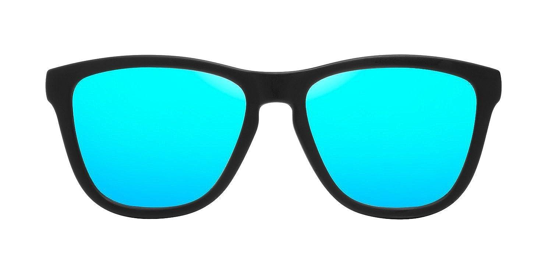 60 Unisex-Adulto Hawkers OTR29 Occhiali da sole Nero Negro//Azul Claro