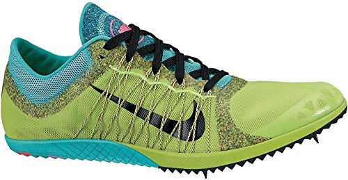 Nike Womens Lime Green / Blue Zoom Victory Vc 3 Track Shoes Us 8.5