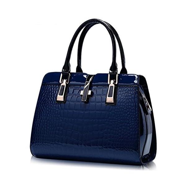 Women's Tote Top Handle Handbags Crocodile Pattern Leather Cross-body Purse...
